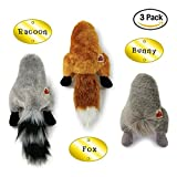 Silly Bums Small Woodland Animal Stuffed Dog Toy (3 Pack)