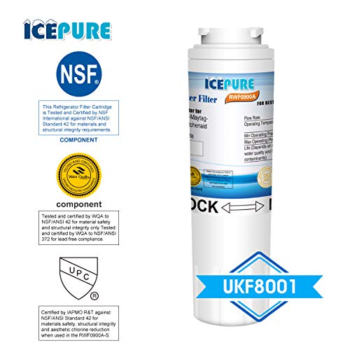 Icepure RWF0900A 4PACK Refrigerator Water Filter Compatible with Maytag  UKF8001 ,WHIRLPOOL 4396395 ,EveryDrop EDR4RXD1,Filter 4