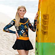 Wetsuit Top 1.5Mm High-Necked Women Long Sleeve Jacket Neoprene with Front Zipper for Swimming Diving Surfing