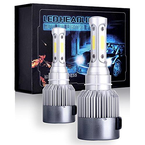 (ECCPP 9003/H4 LED Headlight Bulb Hi/Lo Beam White Fog Lights Conversion Kit - 80W 6000K 10400Lm - 3 Year Warranty(Pack of 2))