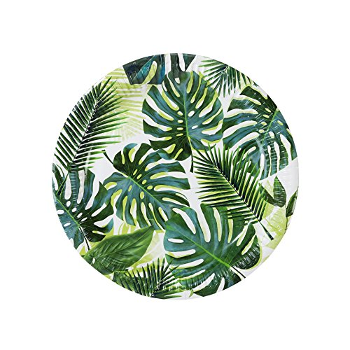 Luau Party Hawaiian Theme Party Supplies Paper Plates Palms 9
