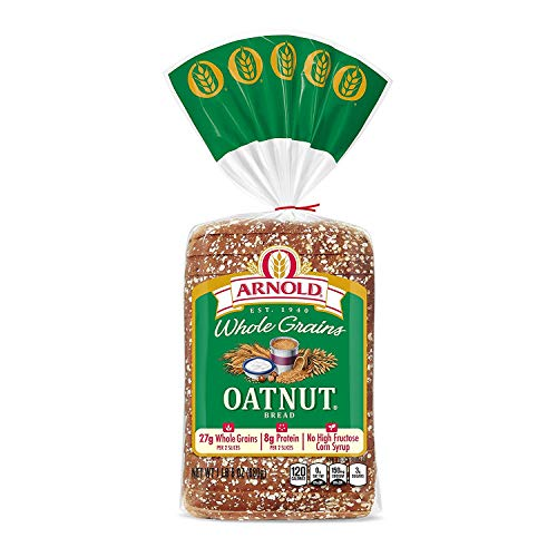 Arnold Whole Grains Oatnut Sliced Bread, 24 Oz - 2 Loaves Arnold Whole Grain Bread