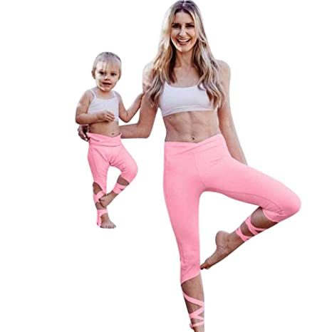 4f66f410e91640 Amazon.com : Mommy and Me, Mom&Me Women Sports Tank Tops Vest+Pants ...
