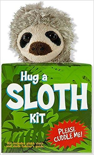 book with plush Hug a Sloth Kit