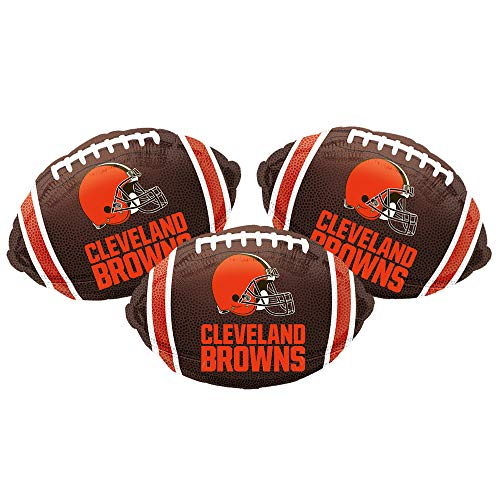 "Cleveland Browns Football Sport Party Decoration 18"" Balloons - Set of 3"
