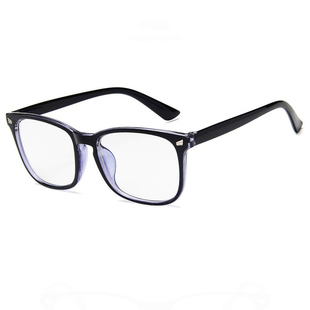 Brille KKY-Enter Moderne Einfachheit Anti-Blaulicht Schutzbrille für Computer/Telefon Besserer Schlaf [Anti-Augen-Müdigkeit] (Farbe : Schwarz)