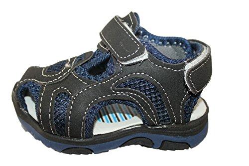 sherry-sandales nu pieds-noire et bleue-garçon