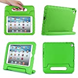 iPad MiNi 4 Case,iPad MiNi 4 Kiddie Case-SNOW-Shockproof Case Light Weight Kids Case Super Protection Cover Handle Stand Case for kids Children for Apple iPad mini 4(iPad MiNi 4, green)