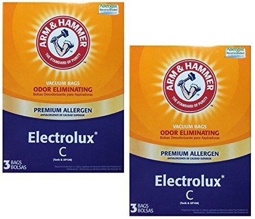 Arm & Hammer Odor Eliminating Premium Allergen Vacuum Bags, Electrolux C, 3 bags, 2 pack