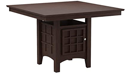 Merveilleux Mix U0026 Match Counter Height Dining Table With Storage Pedestal Base