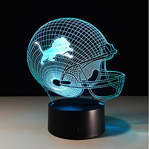 Football Helmet Light - Touch Control Football Helmet Light- Upgraded Color Changing Touch Light - Night Light for Boys Men Women - Perfect Gift for Football Sports Lovers (Detroit Lions)
