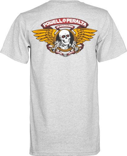 Powell-Peralta Winged Ripper T-Shirt, Gray, X-Large