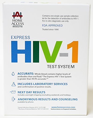 Home Access Express HIV-1 Test System - At-Home Test For The HIV Virus - Next Day Results, Confidential & FDA Approved by Unknown