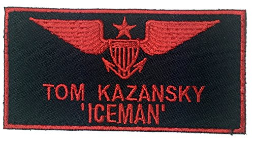 Top Gun Jacket Patches (Patch Squad Men's US Navy Top Gun Fighter Tactics Tom Kazansky ICEMAN)