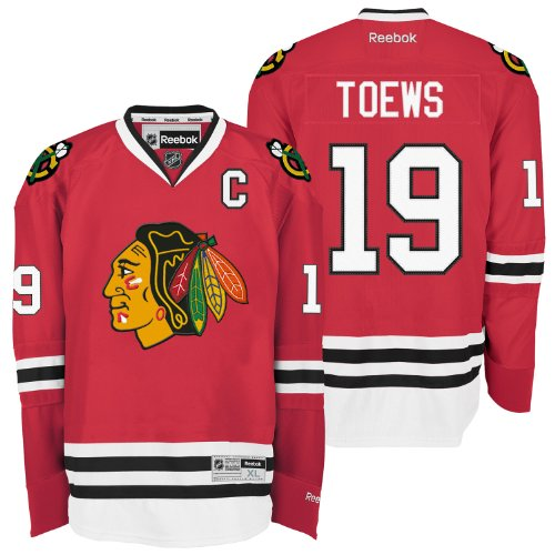 NHL Chicago Blackhawks Jonathan Toews #19 Premier Jersey, Red, Large