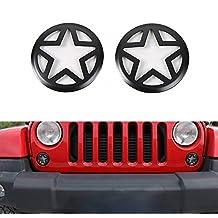 Opar Front Turn Signal Light Cover for 07-17 Jeep JK Wrangler & Wrangler Unlimited - Pair (Five Star )