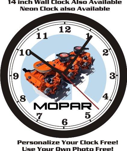 MOPAR 440 V8 ENGINE PHOTO WALL CLOCK-FREE US SHIP-DODGE, ()