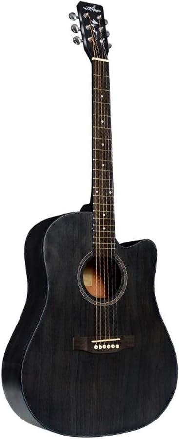 Miiliedy Serie Vintage Guitarra Acústica 41 Pulgadas Principiantes Niños Chicas Maravillosa Voz Guitarra Diseño Minimalista Se siente Cómodo Estudiante Instrumento Musical (Color : Gray)