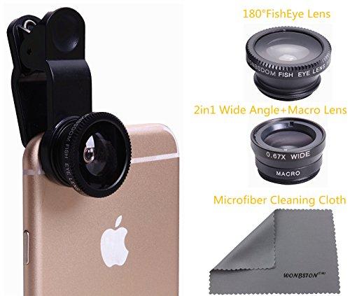 3 in 1 Macro/Fish-eye/Wide Universal Clip Lens (Black) - 7