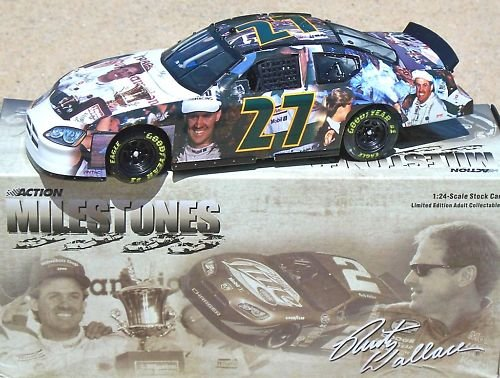 2005 Edition Action Rusty Wallace #27 Milestones NASCAR 1989 Winston Cup Champion Championship Dodge Charger Highlights 1:24 1/24 Scale Diecast Hood Opens Limited Production Only 4008 Made