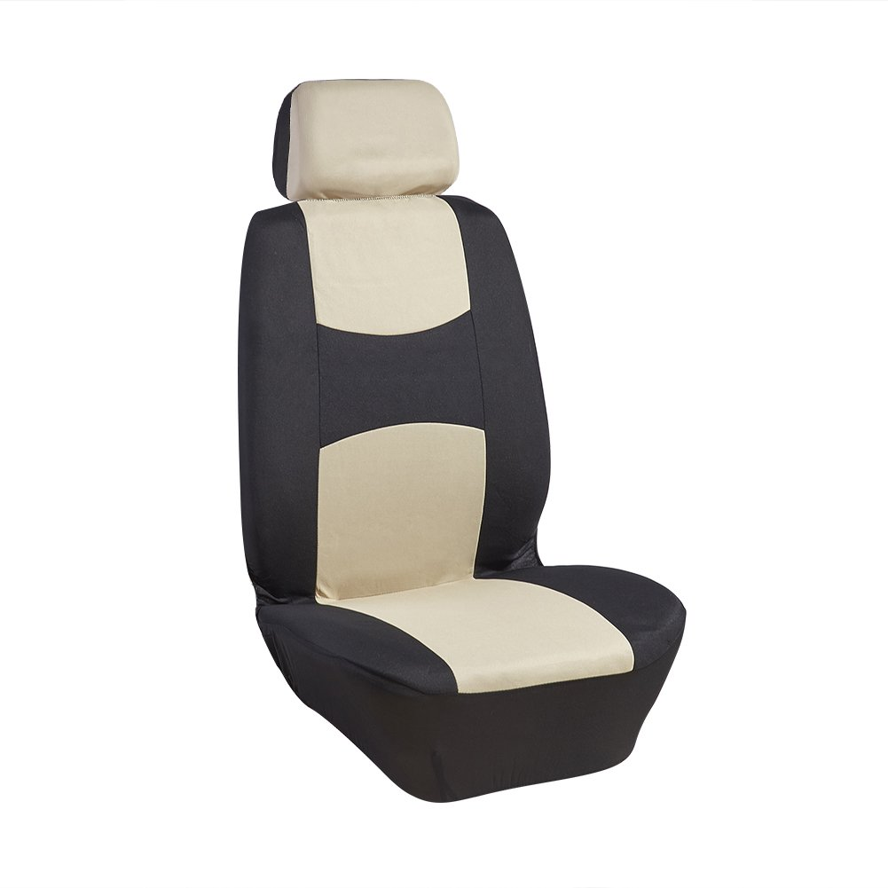 UR URLIFEHALL Black with Yellow Universal Comefortaboe Cotton Car Seat Cover Pad Mat for Auto Car Chair Cushion