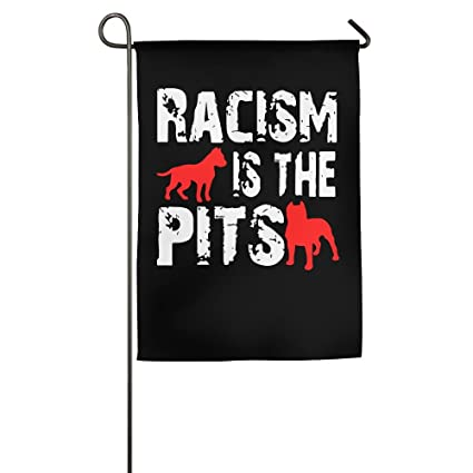 amazon com mm flag racism is the pits home garden flag decorative