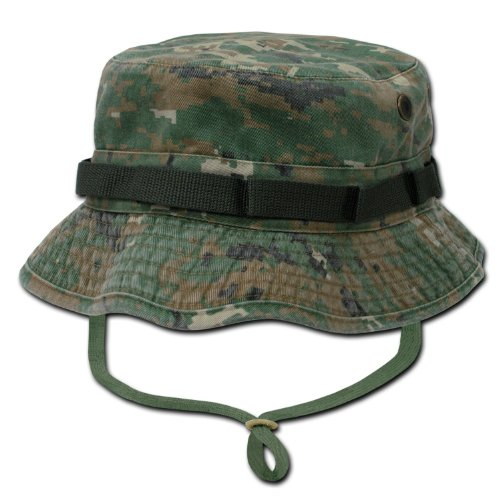 RAPID DOMINANCE Washed Hunting Fishing Outdoor Hat Military Boonie Hats (Digital Woodland, - Stores Woodland Mall