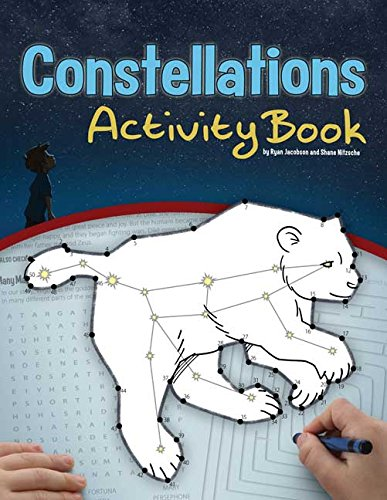 Constellations Activity Book (Color and Learn) - Astronomy Telescope Book