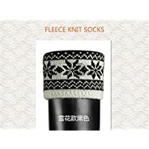 TPLB Snow Flake Cable Cuff Welly Socks for Hunter Tall Boots Liners-M