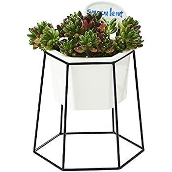 Amazon Com Flowerplus Planter Pot Indoor 4 33 Inch White