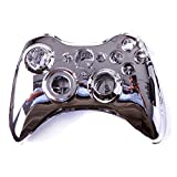 Cheap HDE XBOX 360 Wireless Controller Shell Replacement Buttons Thumbsticks Custom Cover Case Kit – Chrome Silver