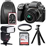 Panasonic DMC-G7KS 4K Digital Mirrorless Camera 14-42 mm Lens Kit (Silver) w/FC-1000 18-180MM Zoom Intelligent TTL Flash Bundle