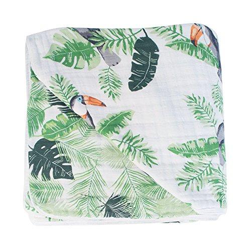 Bebe au Lait Classic Muslin Snuggle Blanket, Rio & Palms