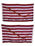 AES 3×5 Embroidered 1st Navy Jack Gadsden Don't Tread Double Sided 300D Nylon Flag House Banner Double Stitched Fade Resistant Premium Quality