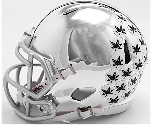 Riddell Chrome Ohio State Buckeyes Speed Mini Football Helmet - 2018 Chrome Alternate