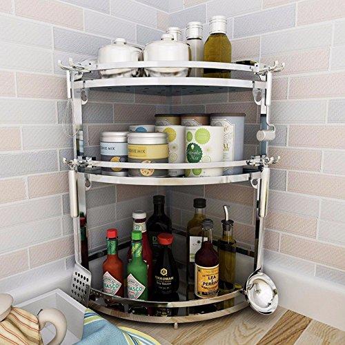 Edelstahl Küche Regale Wandhalterung an Decke und Gewürzen ...