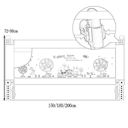 Security Gate Bedside Shatter Resistant Fence Neonatal Bedside