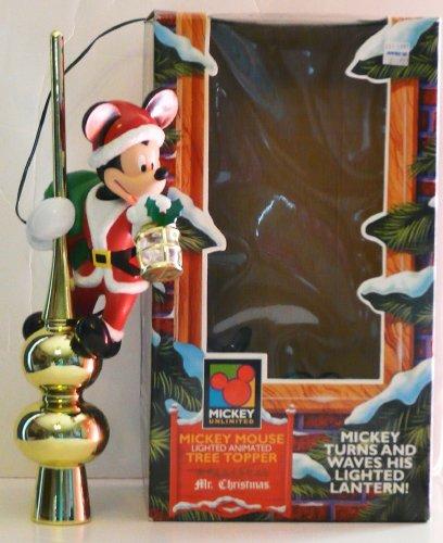 Mr. Christmas Holiday Innovation Mickey's Lighted Animated Tree Top - Tree Top Disney Ornament]()