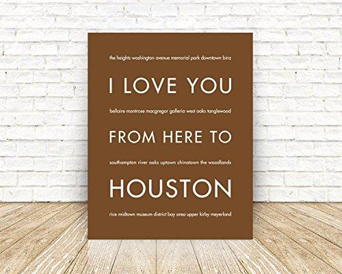 HOUSTON Texas State Travel Art - Galleria Houston