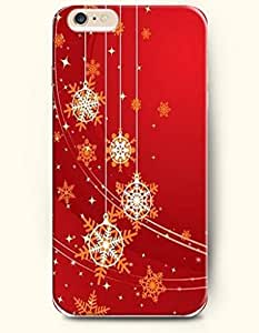 SevenArc Authentic Cases for iPhone 6 Plus (5.5inch) - Hard Back Plastic Case /Merry Christmas Xmas/ Red Christmas...