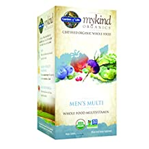 Garden of Life Multivitamin for Men - mykind Organic Men's Whole Food Vitamin Supplement, Vegan, 120 Tablets