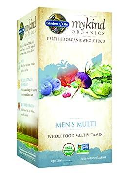 Garden of Life Multivitamin for Men - mykind Organic Men's Whole Food Vitamin Supplement, Vegan, 120 Tablets