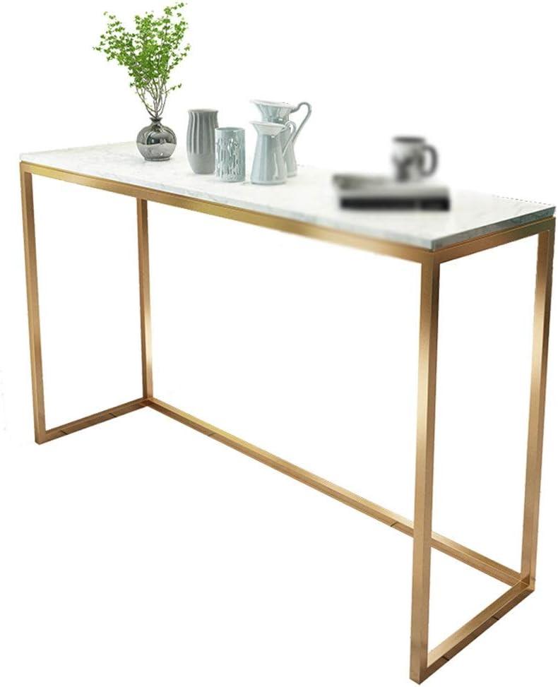 ZWeiD Konsolentisch Artificial Marmor-Finish Metall Couchtisch for Wohnzimmer Villa Clothing Store Korridor Accent Tisch, 80 * 30 * 80CM... 1