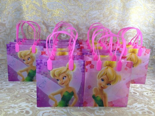 24 Piece Disney Tinkerbell Fairies Goodie Bags Party Favor Bags Gift Bags -