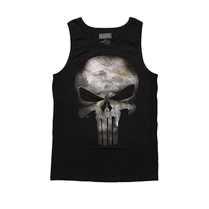 2e7dac5eda7f4 Image Unavailable. Image not available for. Color  Mad Engine Punisher  Movie Symbol Tank Top- ...