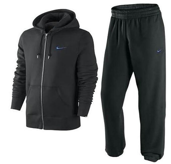 Nike Mens forro Polar cremallera completa Chándal sudadera con capucha color negro en la parte superior y parte inferior Negro negro XL: Amazon.es: Ropa y ...