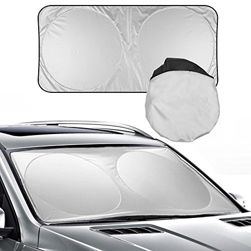 MOONORN Foldable Car Windshield Sunshade Pop Up Auto Car Front Window Sun Visor UV Reflector Windshield Sun Shade, Jumbo Size for Truck, SUV, Van and More Cars (74.8×35.4