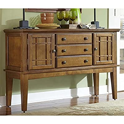 "Liberty Furniture 25-SR400 Santa Rosa Rub Dining Server, 54"" x 20"" x 36"", Mission Oak"