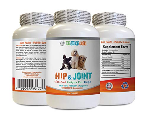 MY LUCKY PETS LLC Dog Joint Health Chews - Dog Hip and Joint Complex - Vet Approved - Powerful Formula - Immune Support - Increase Joint Mobility - glucosamine for Dogs - 1 Bottle (120 Tablets)