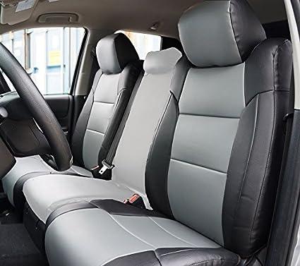 Toyota Tundra Seat Covers >> Amazon Com Toyota Tundra 2014 2016 Black Grey Artificial Leather